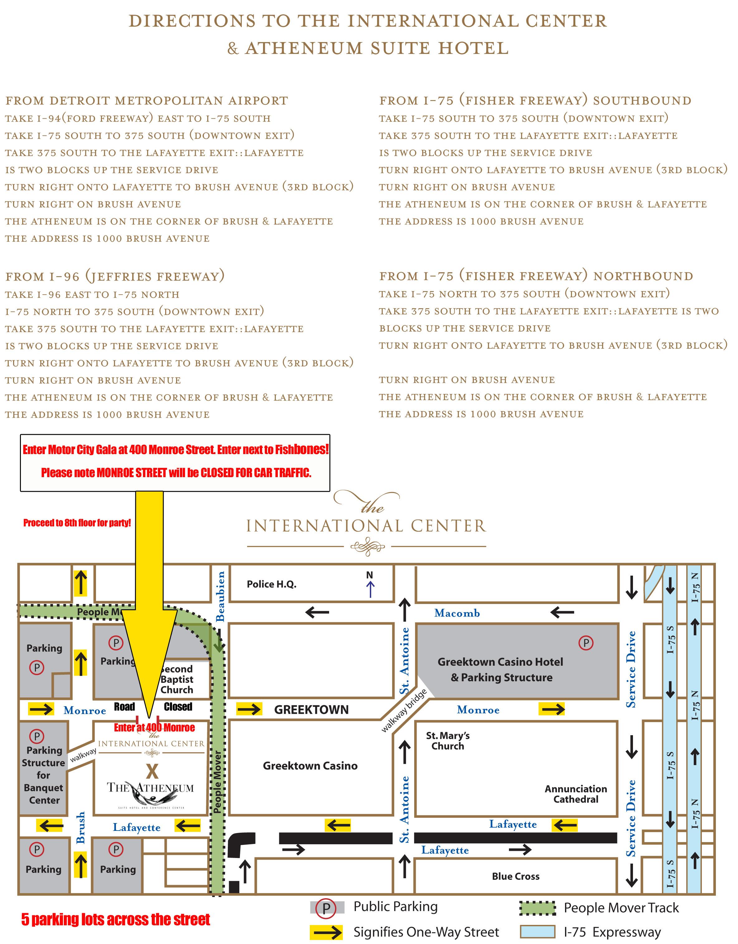 Motor city soundboard seating chart for Motor city casino parking